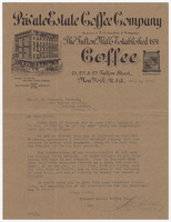 Private Estate Coffee Company, letter