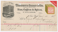 Bennett, Sloan & Co., bill or receipt