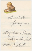Autograph letter, signed, to Kate Pulitzer