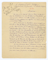 Autograph letter, signed by A. Rubin, with list of committee members