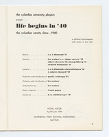 Life Begins In 40 program title page