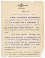 Memo for Mr. Pulitzer on the Newsboys' Strike, page 1