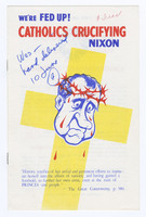 We're Fed Up! Catholics Crucifying Nixon, front cover
