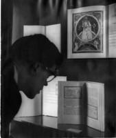 Viewing a Rare Book Display