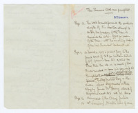 Manuscript Notes on The Panama Canal libel case pamphlet