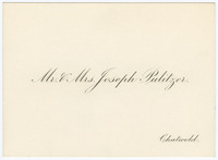 Calling card, Chatwold, Bar Harbor