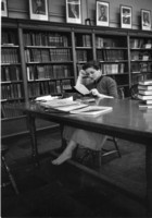 Studying in the College Library