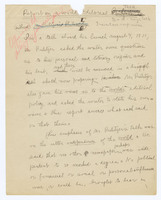 Manuscript Report on a World Editorial Talk [by Joseph Pulitzer]