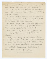 Manuscript memo on editorial view regarding 1908 elections