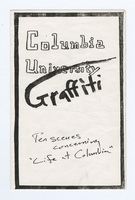 Columbia University Graffiti program cover