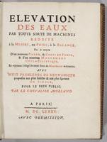 Elevation des eaux par toute sorte de machines