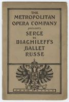 Metropolitan Opera Company Presents Serge de Diaghileff's Ballet Russe: Prospectus, front cover