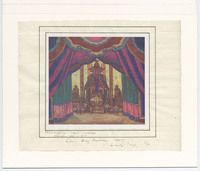 Print of drawing by Aleksandr Benois sent to Simon Lissim