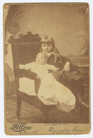 Frances Perkins as a child with her sister