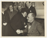 Photograph of Frances Perkins and President Franklin Delano Roosevelt