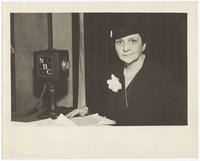 Frances Perkins and NBC microphone