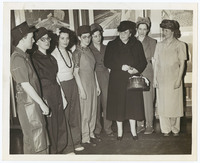 Photograph of Frances Perkins at Safety Costumes Conference