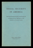 Social security in America, cover