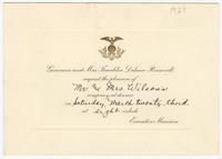 Dinner invitation from Governor Franklin Roosevelt to Frances Perkins and her husband