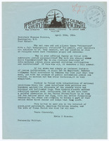 Letter from Edwin I. Stearns to Secretary of Labor Frances Perkins on the Whispering Campaign against Perkins