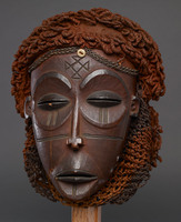 Chokwe mask of Mwana Po (beautiful girl)