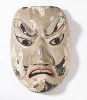 Noh mask of adult male (possibly a warrior or demon)