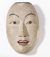 Noh mask of adult male (possibly a warrior)