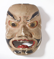 Noh mask of adult male (possibly a warrior or bandit)