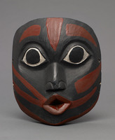 Modern cast of dance mask from the Northwest
