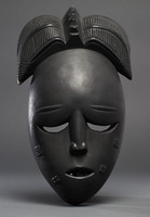 Modern cast of Baule ceremonial Mask (possibly Nyamye)