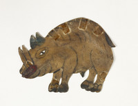 Turkish shadow puppet of rhinoceros