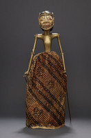 Wajang Golek rod puppet with light yellow face