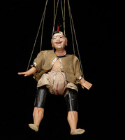 Burmese marionette of male with flesh-colored face