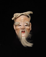 Small mask of elderly man with beard