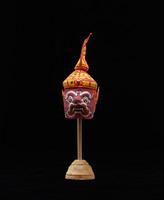 Head with headdress for court dancer figurine