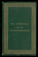 Mrs. Barbauld and Her Contemporaries; Sketches of Some Eminent Literary and Scientific Englishwomen.