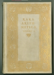 Rara arithmetica : a catalogue of the arithmetics written before the year MDCI