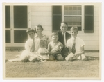 Photo of Pauline Ames and Francis T.P. Plimpton and children, 1937