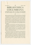 Bibliotheca Columbiana, Number 1, April 1933