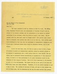 Letter To The Independent, 11 January 1917 (carbon)
